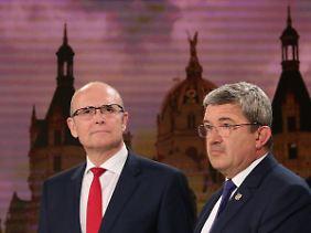 Es bleibt wohl dabei: Erwin Sellerings SPD und Lorenz Caffiers CDU bilden eine Regierung.