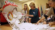 Manipulationsvorwurf nach Wahlen: Weißrussen wählen zwei Oppositionelle