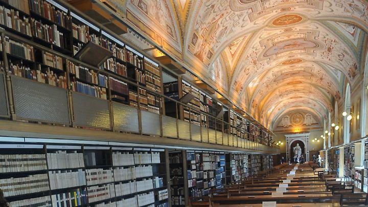 wo die sch tze schlummern vatikanbibliothek beginnt. Black Bedroom Furniture Sets. Home Design Ideas