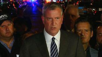 """Bill de Blasio zur Lage in New York: """"Keine Hinweise auf terroristischen Hintergrund"""""""