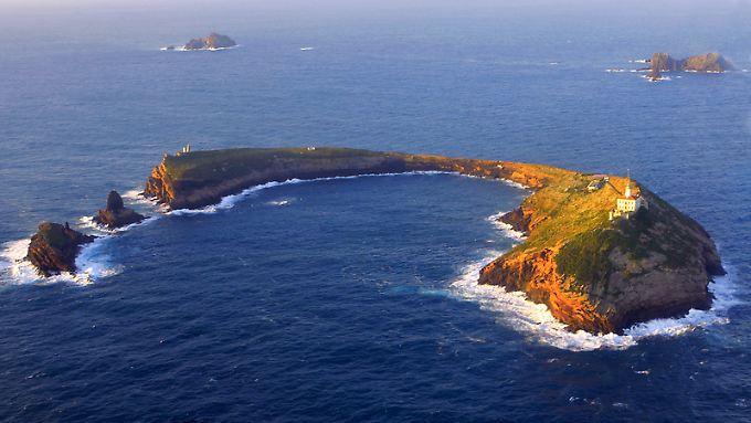 Hauptinsel von Columbretes: Wie ein Hufeisen sieht die Illa Grossa aus.