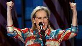 Ob sie das schauspielerische Können von ihren Unterstützern aus Hollywood abgekupfert haben (hier Meryl Streep  auf dem Parteitag der Demokraten), ...