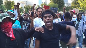 Ausnahmezustand in Charlotte: Gewaltsame Proteste gegen US-Polizeigewalt gehen weiter