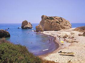 Strand auf Akamas, einer Halbinsel im westlichen Zypern.