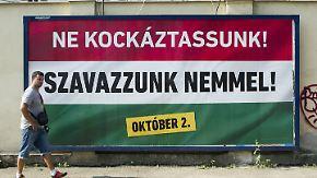 """""""Es ist eine Schande für Ungarn"""": Referendum gegen Flüchtlinge spaltet das Land"""