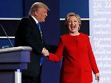 Bloß keine Umarmung!: Clinton trainierte, Trump auszuweichen