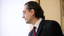 Noch ist sein Weggang nicht beschlossen: HSH-Chef Nonnenmacher
