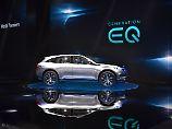 Die Generation EQ ist ein SUV-Coupé, dass nicht nur 500 Kilometer weit fahren soll, sondern auch nicht mehr kosten wird als die C-Klasse.