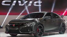 8Der neue Honda Civic präsentiert sich in Paris. Hier in seiner sportlichsten Ausführung.