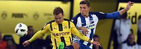 In einem intensiven Duell trennen sich Borussia Dortmund und Hertha BSC unentschieden.