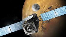 Der Satellit TGO sollte in eine Mars-Umlaufbahn einschwenken.