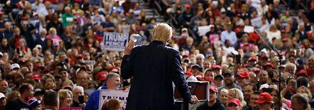 Trump bei seinem Auftritt in Cleveland.