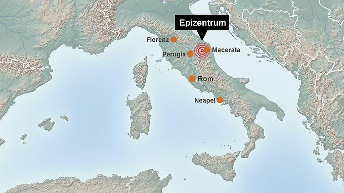 Die Karte zeigt die betroffene Region.