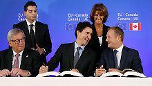 Festnahmen bei Protesten: EU und Kanada unterschreiben Ceta