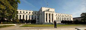 Um Washingtoner Fed-Gebäude hält man die Füße still.