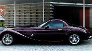 Vielleicht beim dritten Hinsehen kann man allerdings erkennen, dass eine ganz moderne Basis unter seiner ausladenden Blechhaut steckt: Ein Mazda MX-5 verbirgt sich unter der von Mitsuoka drastisch modifizierten Karosserie.