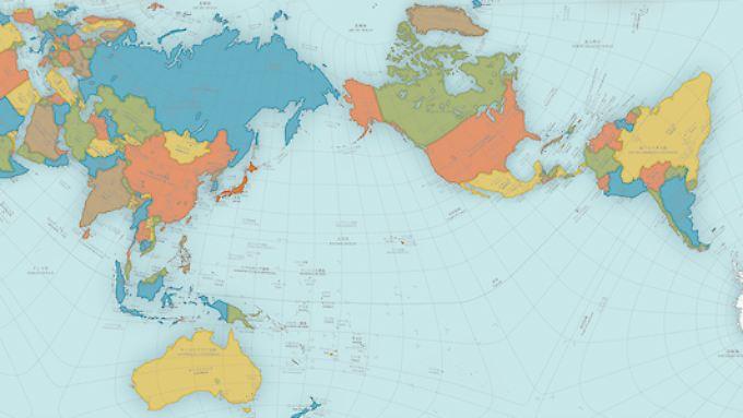 Die neue Weltkarte von Hajime Narukawa soll die genaueste sein, die es bisher gibt.
