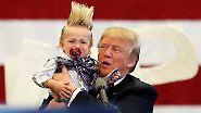 Stattdessen gibt es Unmengen an Witzen über seine Frisur oder andere Kleinigkeiten.