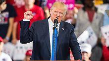 Wahlkampfabschluss in den USA: Trump wiegelt auf, Clinton versöhnt