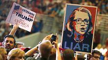 """""""Clinton ist korrupt"""": Bernie-Fans stimmen Trump zu"""