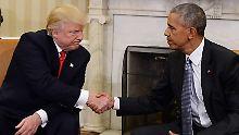 Die alte Abneigung ist noch da: Obama und Trump fetzen sich über Bande