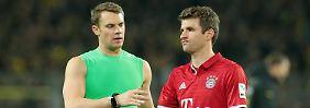 Und nun? Manuel Neuer und Thomas Müller.