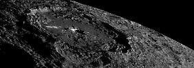 Der Occator-Krater, der die hellste Region des Zwergplaneten beheimatet.