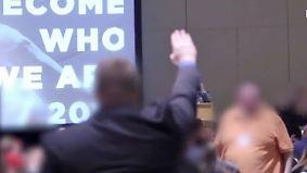 """100-Tage-Programm veröffentlicht: Video zeigt """"Heil Trump""""-Rufe und Hitlergruß von Trump-Anhängern"""