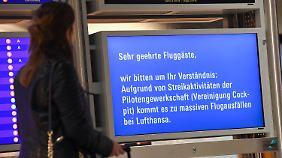 Festgefahrener Tarifkonflikt: Lufthansa streicht fast 900 Flüge wegen Pilotenstreiks