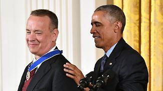 Freude, Tränen und Witz im Weißen Haus: Obama ehrt US-Stars mit Freiheitsmedaille