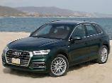 An der Außenhaut des Audi Q5 hat sich kaum etwas geändert.