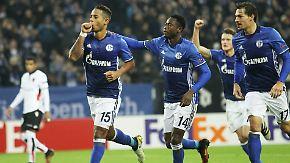 """""""Haben kein Riesenfeuerwerk abgebrannt"""": Schalke setzt Siegesserie in der Europa League fort"""
