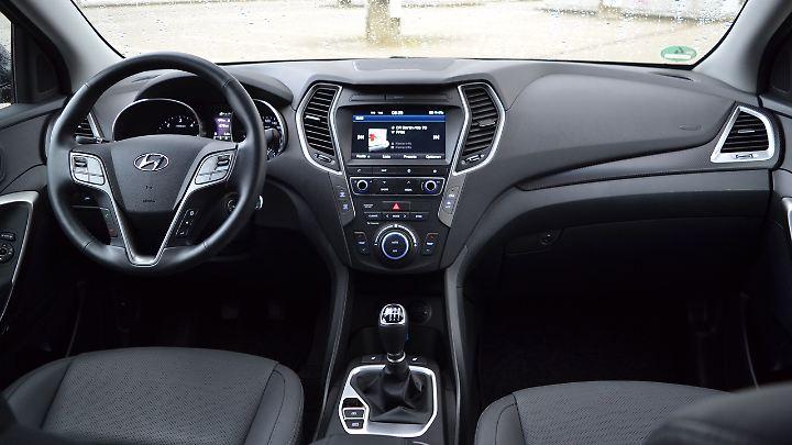Seit 2012 blieb das Cockpit des Hyundai Santa Fe fast unverändert.