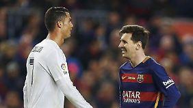 Werden wohl nicht in Leipzig kicken: Ronaldo (l.) und Messi (r.)