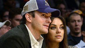 """Promi-News des Tages: Kunis und Kutcher wollen """"keine Arschlöcher großziehen"""""""