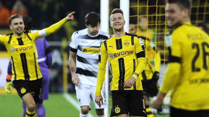 Marco Reus bereitete drei der vier BVB-Tore vor.