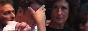 Können das Ergebnis nicht fassen: Renzi und seine Frau