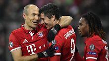 So, und jetzt Leipzig überholen: Arjen Robben und Robert Lewandowski.