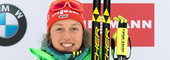 Zweiter Saisonsieg: Laura Dahlmeier.