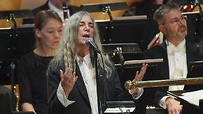 Nobelpreisvergabe in Oslo und Stockholm: Patti Smith springt für Bob Dylan ein