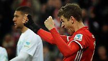 """""""Ich hoffe nicht, dass es bis zum nächsten Tor wieder 999 Minuten dauert."""" (Bayern Münchens Thomas Müller zum Ende seiner Torflaute)"""