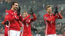 Sind happy, wieder obenauf zu sein: die Bayern