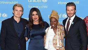 Promi-News des Tages: Chan, Beckham und Bloom erweisen Unicef die Ehre