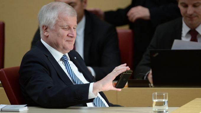 Horst Seehofer im bayerischen Landtag.