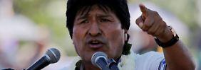 """""""Gezwungen, mich zu unterwerfen"""": Morales will Boliviens Präsident bleiben"""