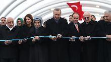 100 Meter unter dem Meer: Erdogan eröffnet Eurasien-Tunnel