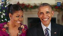 Die Obamas erinnern sich an ihre erste Weihnachtsansprache im Jahr 2009.