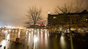 """Sturmflut in Hamburg: Orkantief """"Barbara"""" fegt mit bis 120 km/h über den Norden hinweg"""
