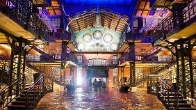 Leiderprobt: Die Fischauktionshalle in Hamburg steht bereits unter Wasser.