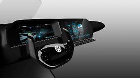 So stellt sich VW das Cockpit der Zukunft vor.